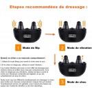 Collier de Dressage Pour Chien - Portée 500 mètres - Vibration, Choc Électrostatique, Sonore