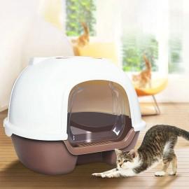 Bac à litière avec Couvercle et Pelle pour Chat