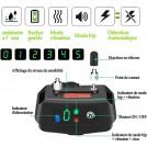 Collier Anti Aboiement avec Vibration, Son et Choc Electrique, Module de Détection Intelligente d'Aboiement Collier pour Petits, Moyens et Grands Chiens