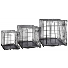 Cage Pliante en Métal avec une Porte - Petit à Très Grand