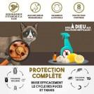 Collier Anti-Puces pour Chat Chattons Chien Chiots - Collier Antiparasitaire Réglable
