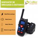 Collier de Dressage pour Chien avec Télécommande, Collier Anti-Aboiement, Portée 330 Mètres |Étanche -  3 Modes d'Entraînement